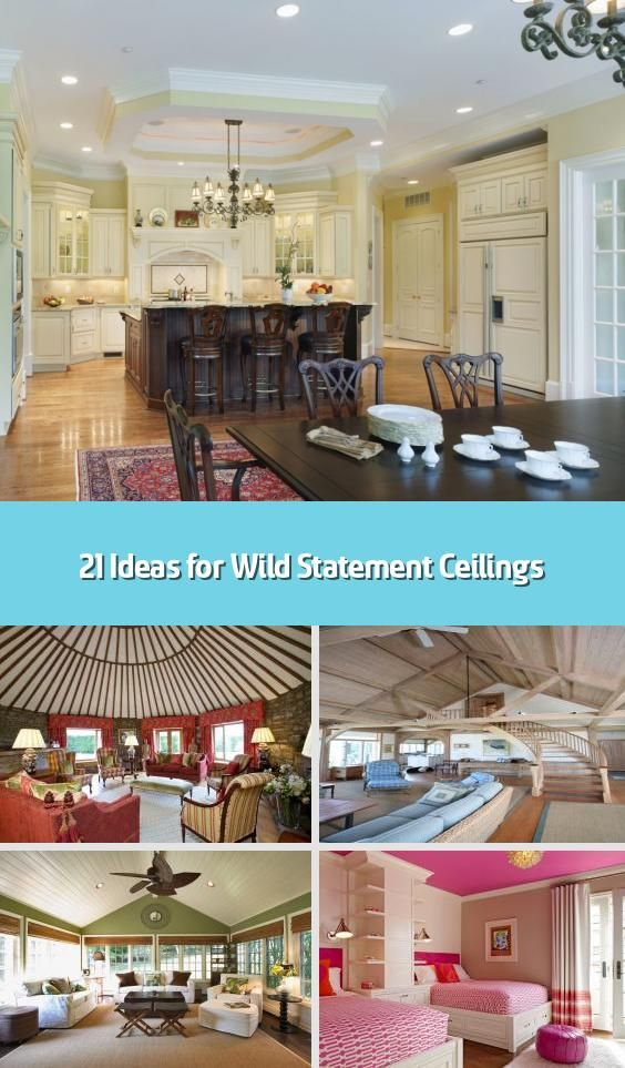 21 Ideas For Wild Statement Ceilings Usually The Ceiling In Any Space Goes Fairly Unnoticed Seen As Just A In 2020 Colored Ceiling Creative Colour Painted Ceiling