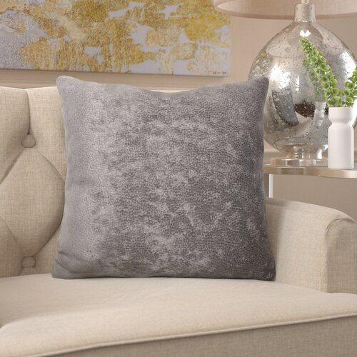 Zierkissen Willa Arlo Interiors Farbe Silber Grosse 68 Cm H X 68