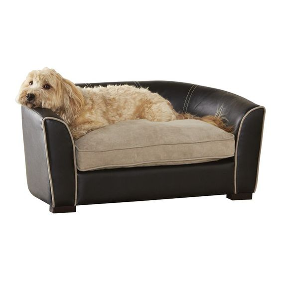 Ultra Plush Remy Bed In Black Dog Sofa Bed Dog Sofa Unique Dog Beds