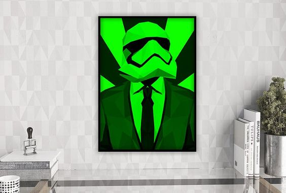 Large Star Wars Pop Art Poster Stormtrooper Print by GalliniDesign