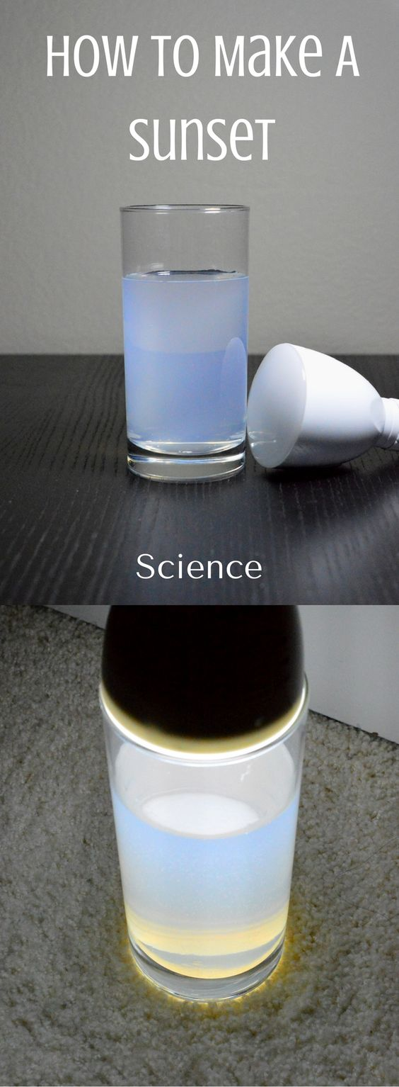 Sunset In A Glass | Science Experiment |  STEM