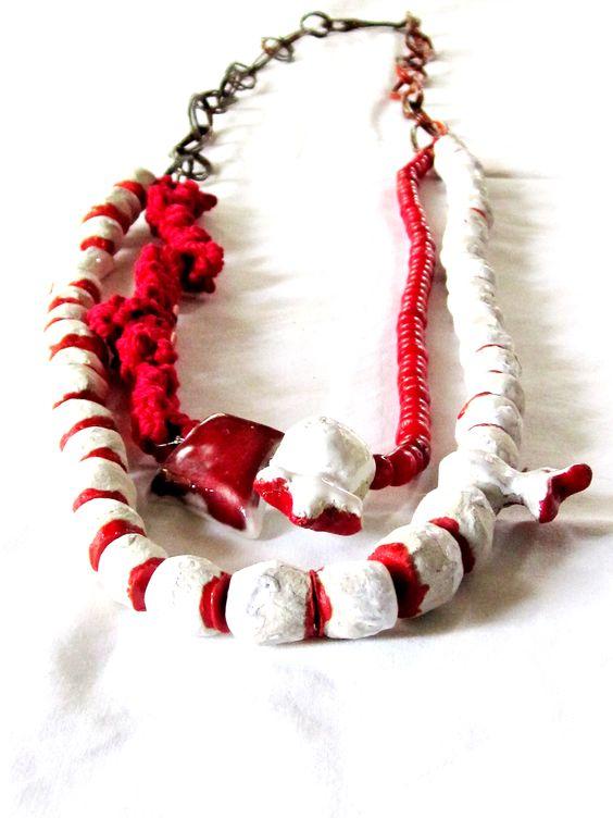 Dora Haralambaki - wirw,threads,paper,corals,porcelain: