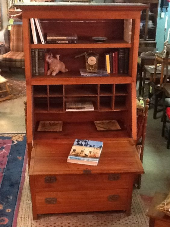Primitive, Handmade Walnut Secretary For Sale At Reused Furniture/Olathe, KS .