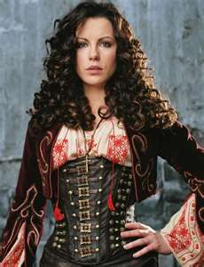 Piroska's mother - Queen Tzigana from HEDDA'S SWORD & RIEVER'S HEART (Anna from Van Helsing - the gorgeous Kate Beckinsale):