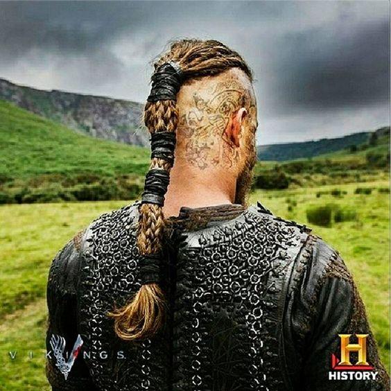 Ragnar lothbrok tattoos pictures norse pinterest for Ragnar head tattoo stencil