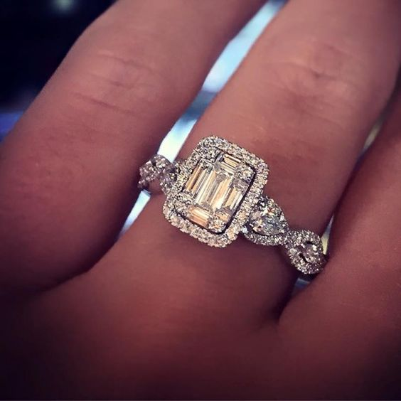 emerald cut engagement ring engagement rings pinterest. Black Bedroom Furniture Sets. Home Design Ideas