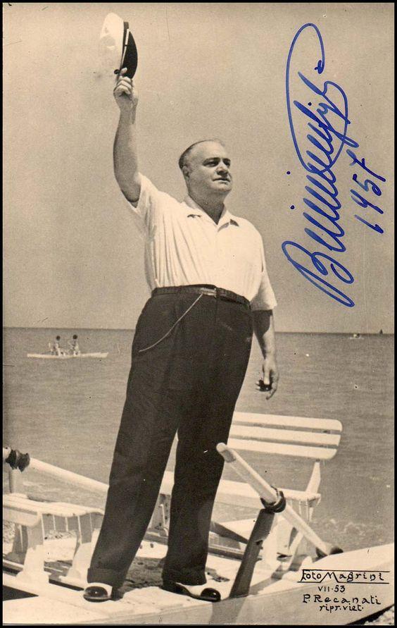 Beniamino Gigli in vacanza, 1957 #VerdiMuseum