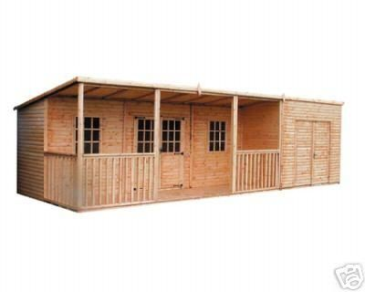 combination shed and summer house | ... Saloon And Shed Combo | Summer Houses | R&B Sheds And Fencing Ltd