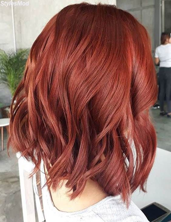 Red Shoulder Length Hairstyles To Become More Stylish In 2018 If You Have A Gorgeous Medium Length Haircu Short Red Hair Hair Styles Medium Length Hair Styles
