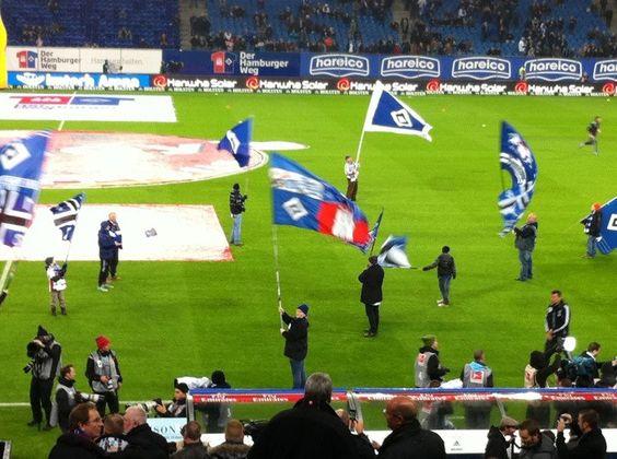 HSV gegen FC Bayern am 03.11.12. LIVE - gepinnt von www.hausmann-makler.de