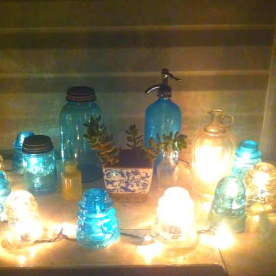 Glass insulators cool ideas and glasses on pinterest for Glass insulator ideas