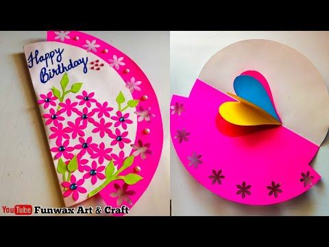 Make Happy Birthday Card Handmade Easy Card Tutorial Diy Birthday Greeting Card In Easy Happy Birthday Cards Handmade Handmade Birthday Cards Simple Cards