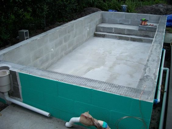 Swimming Pool Repair Questions : Concrete block puppy pool in progress many questions