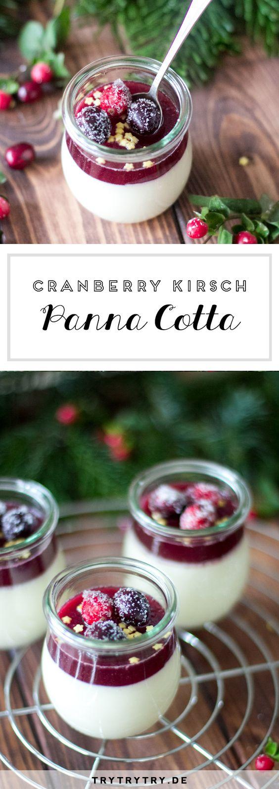 Cranberry Kirsch Panna Cotta