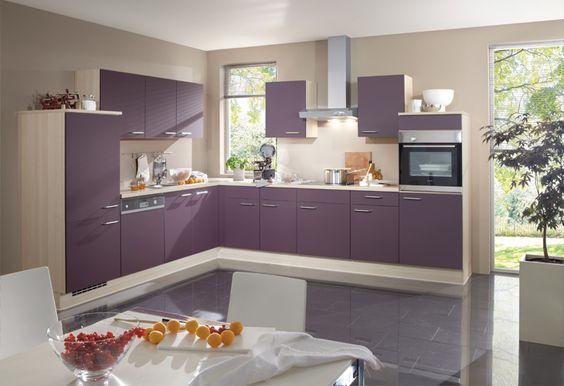 Best  K che in Lila K cheninsel dyk kuechen de Lila K chen Pinterest Purple kitchen Kitchens and Future house