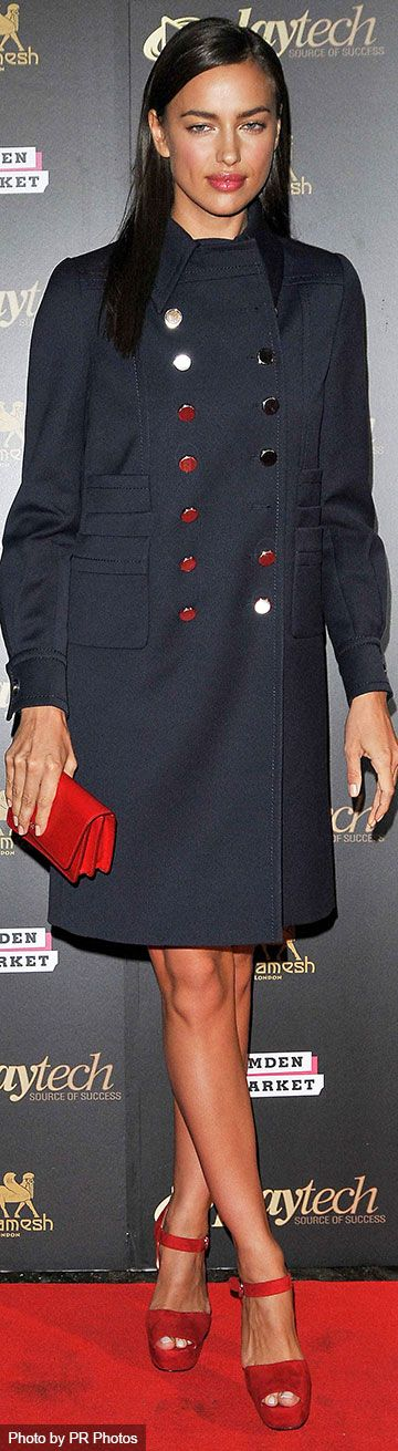 Irina Shayk Wearing Miu Miu Coat
