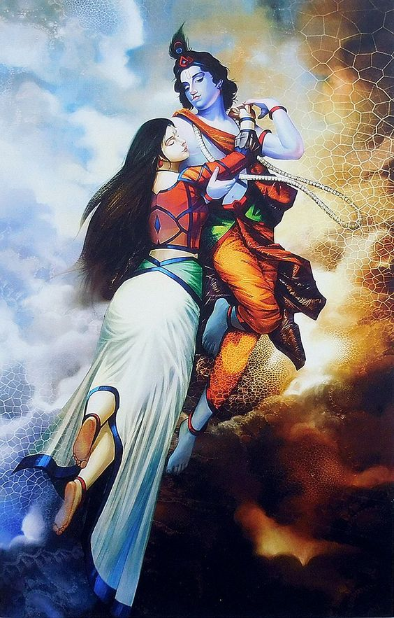 Love of Radha Krishna - Unframed Poster  IMAGES, GIF, ANIMATED GIF, WALLPAPER, STICKER FOR WHATSAPP & FACEBOOK