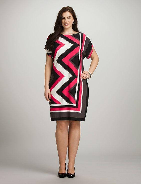 Moda para mujeres gorditas : Modernos vestidos casuales para gorditas: