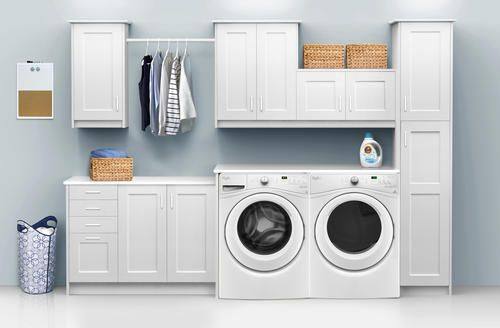 Klearvue Cabinetry Stromma White 9 1 2 Laundry Room Cabinets
