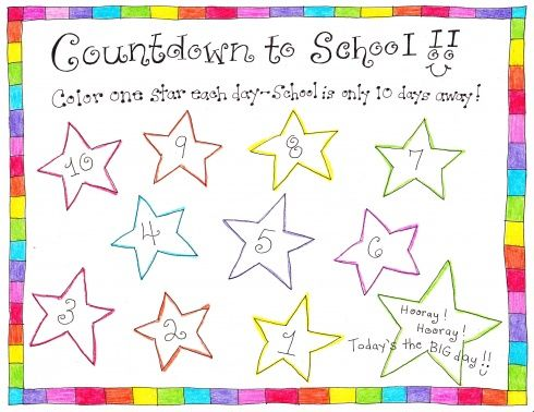 back-to-school countdown