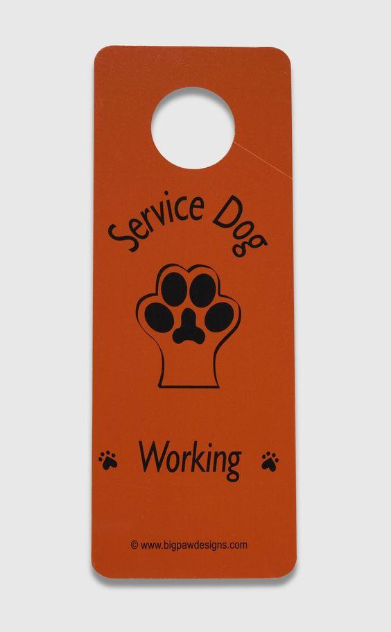 Service Dog Door Hangers