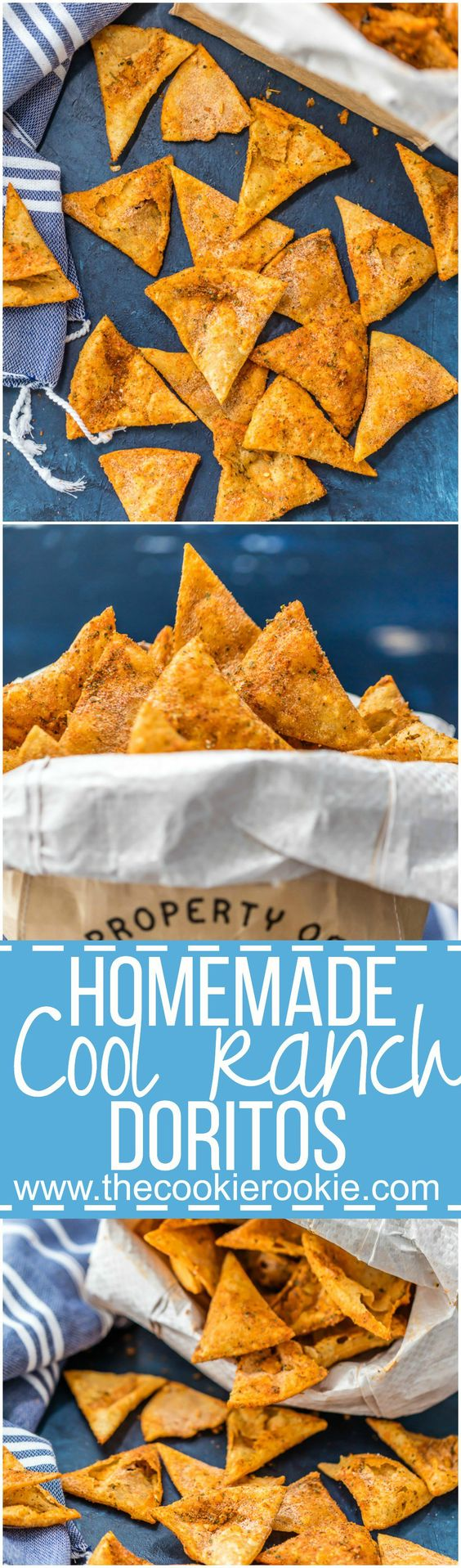 You can make DORITOS at home! COPYCAT HOMEMADE COOL RANCH DORITOS are so fun, tasty, and CHEAP! Make them at home and impress your family. So easy and delicious!