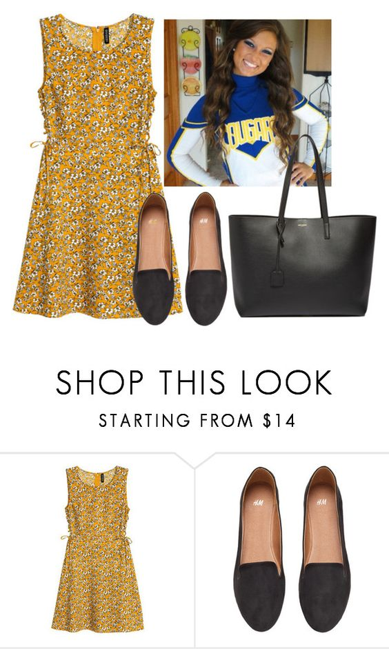 """""""Flower Dress"""" by hannahmcpherson12 ❤ liked on Polyvore featuring H&M and Yves Saint Laurent"""