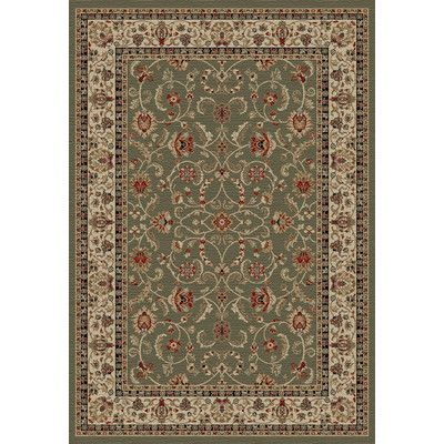 Mayberry Rug Hometown Classic Keshan Sage Area Rug Rug Size: