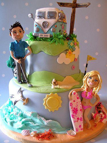 Barbie & Ken wedding cake