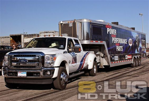 Big F-350 Pulling a big trailer