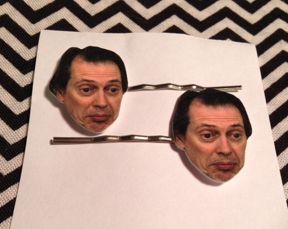 Steve Buschemi Bobby Pin Set by GeekOutFL on Etsy https://www.etsy.com/listing/236768881/steve-buschemi-bobby-pin-set
