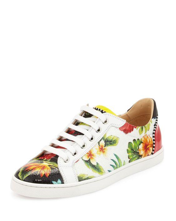 cheap louis vuitton men shoes - Christian Louboutin Seava Hawaii Low-Top Sneaker, Floral | *Neiman ...