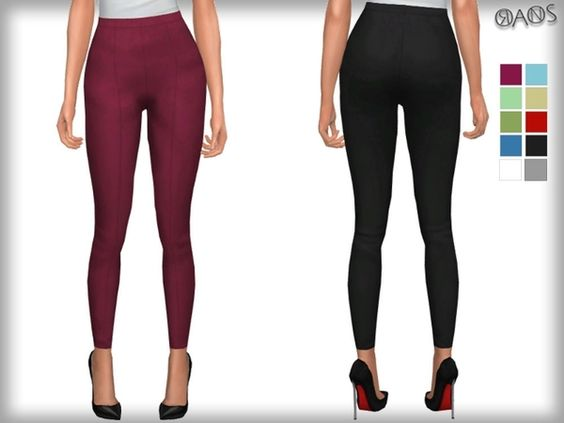 The Sims Resource Skinny Crop Trousers By Oranostr Sims