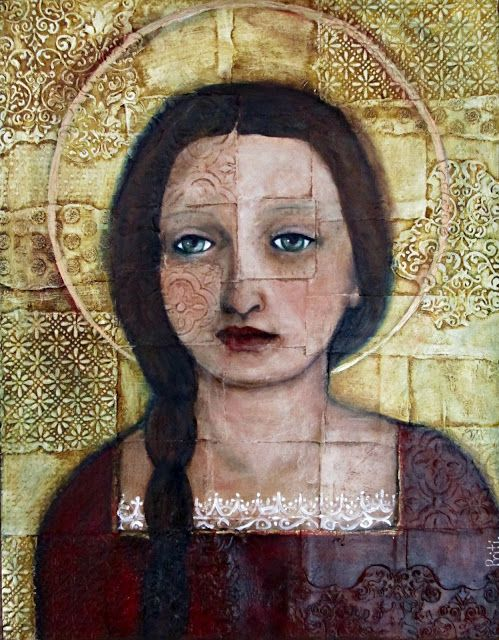 Priti Studio - Mixed media Virgin Mary = ♥♥♥: