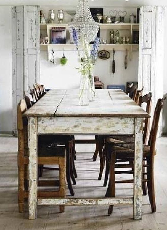 French Country Country Farmhouse And Table And Chairs On Pinterest