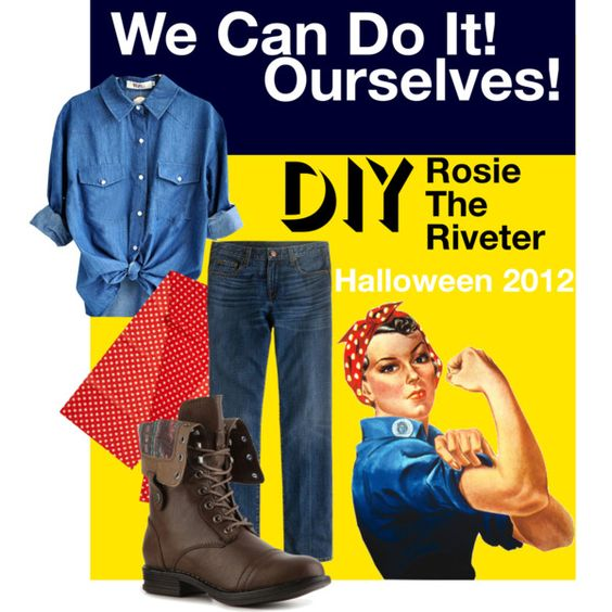 DIY Rosie The Riveter Costume : Rosie The Riveter, The Riveter and ...