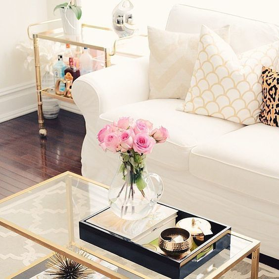 Homegoods Decor The Black Gold Tray Help Keep The Coffee Table Organized And Is Aes Home Goods Decor Table Decor Living Room Coffee Table Decor Living Room