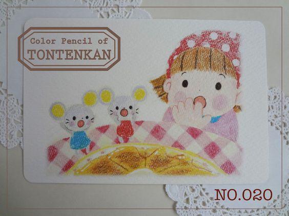 『no.020 おやつやさん5』 のポストカードです。*このポストカードのイラストは、絵本作品です。よろしければ、絵本も合わせてご覧ください。↓ht...|ハンドメイド、手作り、手仕事品の通販・販売・購入ならCreema。