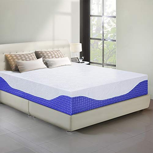 Primasleep 12 Inch Multi Layered I Gel Infused Memory Foam Mattress Cobalt Blue Queen Memory Foam Mattress Foam Mattress Foam Mattress Bed