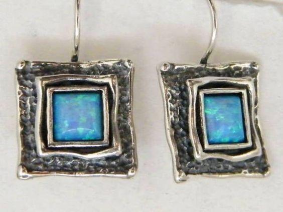 Silver ohrschmuck mit opal