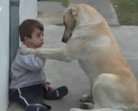 Écoute petit bonhomme, on est tous différents. Alors ne sois pas triste. Je suis là pour toi ❤