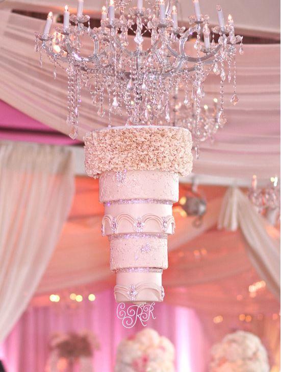 Candace And Tino S Glamorous Peony Pink Wedding Wedding Cake Alternatives Bling Wedding Cakes Cool Wedding Cakes