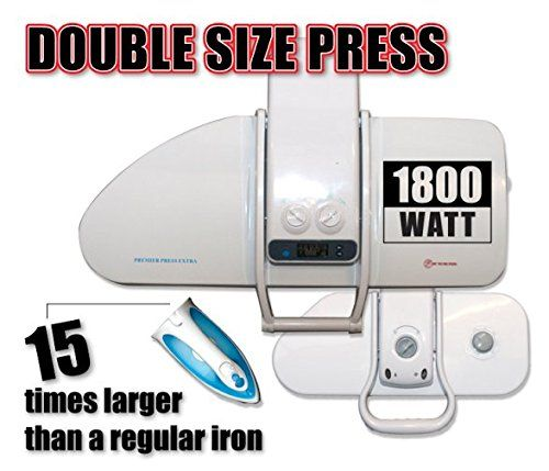 Ironing Press For Dry Or Steam Pressing, 1800 Watts! 38 Powerful Jets Of Steam, 100Lbs Of Pressure, Includes Extra Cover+Foam ($35 Value)! (Extra Large), 2015 Amazon Top Rated Irons #Home