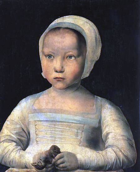 Louise of France. Oldest daughter of Frances I and Claude of France. Died aged two, of convulsions. Engaged to Infante Charles of Castile from birth to death.