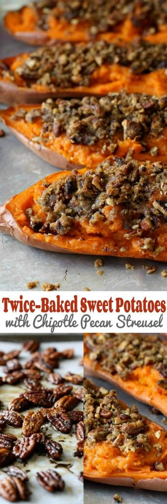 These twice-baked sweet potatoes are topped with an amazing chipotle ...