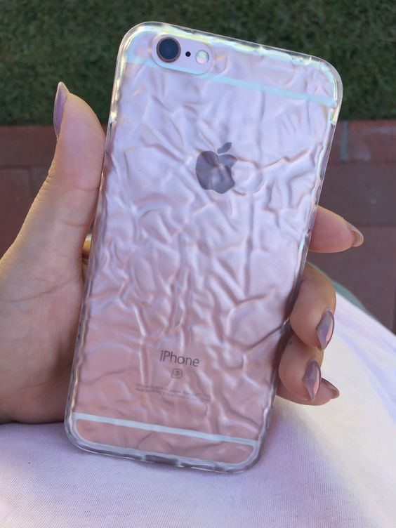 Rose Gold 6s With The Clear Crystalline Case Crystalline