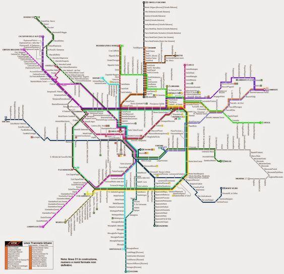 Transporte Público En Milán Mueroporviajar Blog De Viajes Mapa Del Metro Milán Transporte