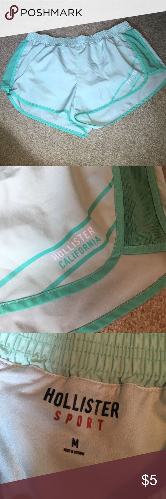 Hollister size M sport shorts Hollister green running shorts. Used but in great condition Hollister Shorts