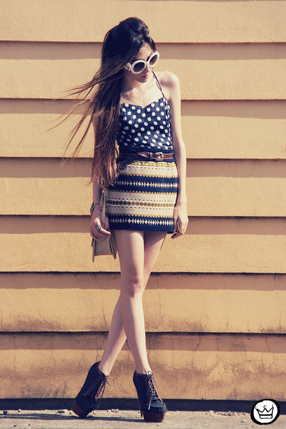 pattern mix [via FashionCoolture]