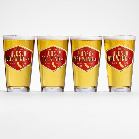 Personalized Home State Pub Glasses